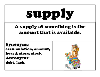 WORD OF THE WEEK! VOCABULARY CARDS! WEEKLY WORDS! BUNDLE of Set A and Set B