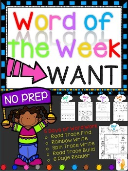 WORD OF THE WEEK - WANT