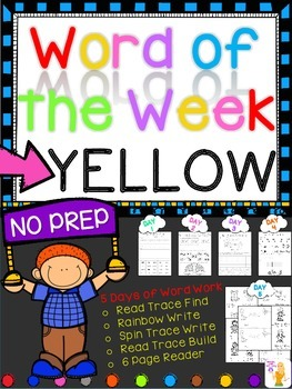 WORD OF THE WEEK - YELLOW