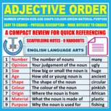 WORD ORDER ADJECTIVES: HANDOUT