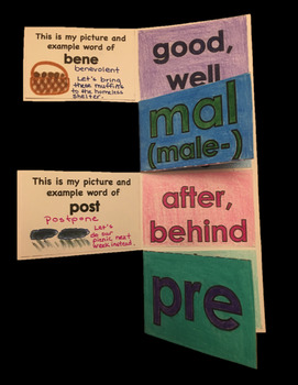 WORD PARTS WEEKLY VOCABULARY - BENE, MAL, POST, PRE