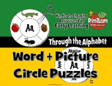 KINDERGARTEN PICTURE WORD CIRCLE PUZZLES