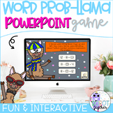 WORD PROB-LLAMA number sentence and word problem PowerPoint game