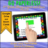 AREA and PERIMETER Digital Task Cards MEASUREMENT AND DATA part 2