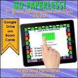 AREA & PERIMETER Test Prep Task Cards Google Classroom™ part 2