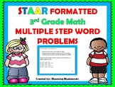 WORD PROBLEMS:  3rd Grade STAAR Formatted, Multiple Step Word Problems
