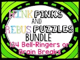 BACK TO SCHOOL WORD PUZZLES Brain Teaser TASK CARDS - Hink Pinks & Rebus Puzzles