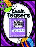 WORD PUZZLES: BRAIN TEASERS Rebus Puzzles, Word Plexers