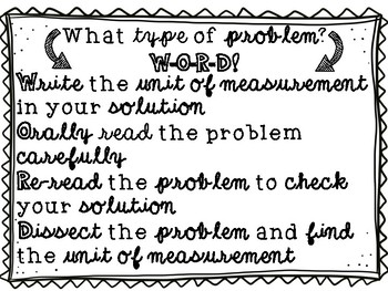 WORD Problem Chant