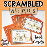 WORD SCRAMBLE TASK CARDS for Upper Elementary Students