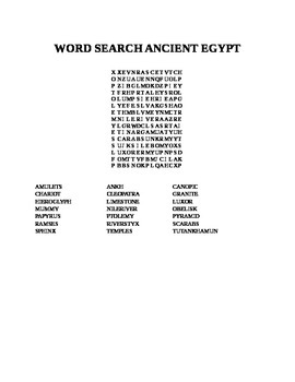 WORD SEARCH-ANCIENT EGYPT