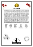 WORD SEARCH - ANZAC DAY
