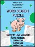 WORD SEARCH PUZZLE - USE WITH YOUR OWN WORD LISTS