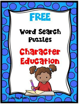 WORD SEARCH PUZZLES Character Education FREE