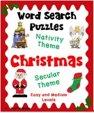 WORD SEARCH PUZZLES Christmas Nativity & Christmas Secular