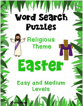 WORD SEARCH PUZZLES Easter (Religious Theme) FREE
