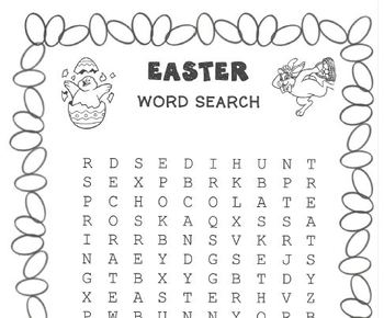 WORD SEARCH PUZZLES Easter (Secular Theme)