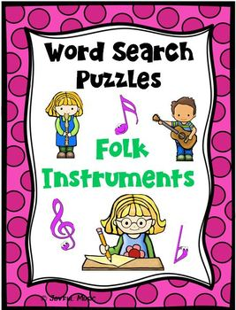 WORD SEARCH PUZZLES Folk Instruments FREE