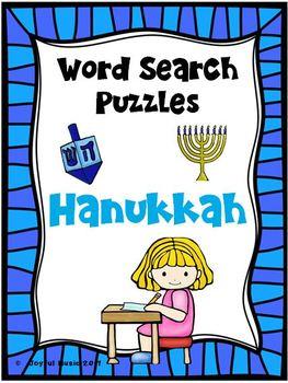 WORD SEARCH PUZZLES Hanukkah