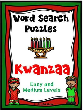 WORD SEARCH PUZZLES Kwanzaa