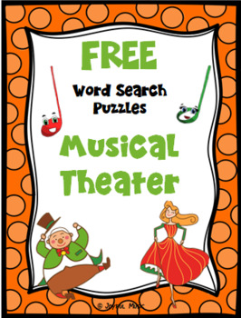 WORD SEARCH PUZZLES Musical Theater FREE
