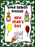 WORD SEARCH PUZZLES New Year's Day FREE