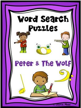 WORD SEARCH PUZZLES Peter & The Wolf