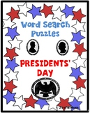 WORD SEARCH PUZZLES Presidents' Day