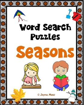 WORD SEARCH PUZZLES Seasons