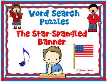 WORD SEARCH PUZZLES  The Star-Spangled Banner