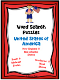 WORD SEARCH PUZZLES United States REGIONS