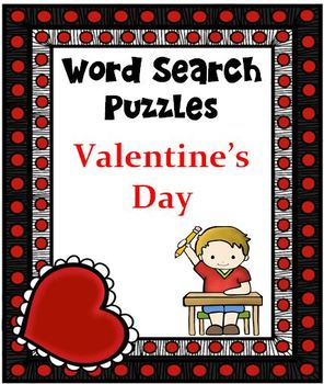 WORD SEARCH PUZZLES Valentine's Day