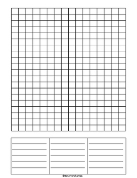 WORD SEARCH TEMPLATE 4 templates English French Spanish language spelling center