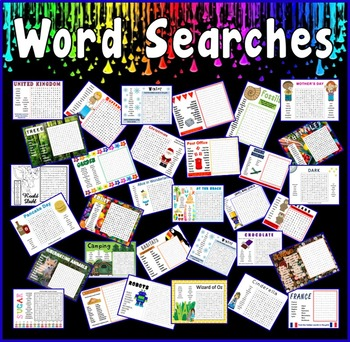 WORD SEARCHES TEACHING RESOURCES KS1-2 CHILDMINDER PRINTABLE PDF GAP FILL