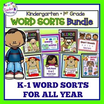 WORD SORT ACTIVITIES   Word Sorts for 1st Grade