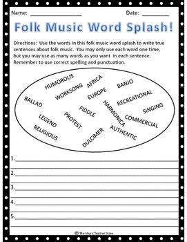 "MUSIC WORD SPLASH BUNDLE!  GREAT ""BACK TO SCHOOL"" ACTIVITY!"