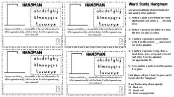 WORD STUDY HANGMAN