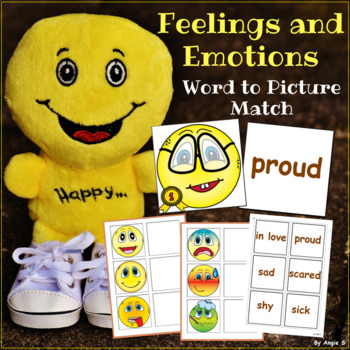 Feelings and Emotions Word to Picture Matching Activity
