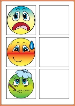 Feelings and Emotions Activity - Word to Picture Match