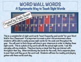 THE SYSTEMATIC WAY TO TEACH SIGHT WORDS~SIGHT WORD CARDS FOR YOUR WORD WALL