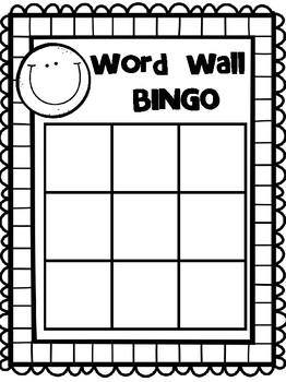 WORD WALL BINGO - FREEBIE