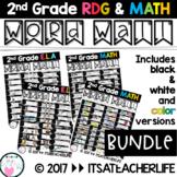 WORD WALL | BUNDLED Math & Rdg | 2nd Grade Vocabulary Cards