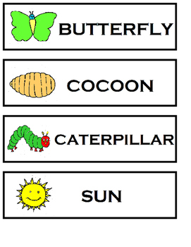 THE VERY HUNGRY CATERPILLAR PICTURE/WORD Cards
