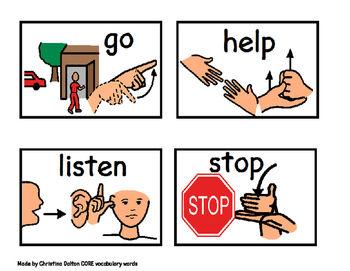 WORD WALL- CORE words sign language