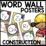 WORD WALL Construction Themed Classroom Theme Decor