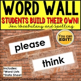 WORD WALL Interactive Vocabulary Books EDITABLE for Special Education and Autism