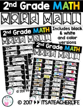 WORD WALL | MATH | 2nd Grade Vocabulary Cards