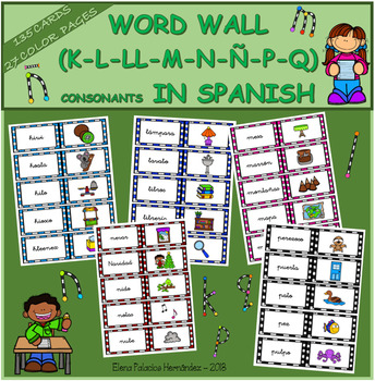 WORD WALL (Mega Bundle) in SPANISH / Muro de Palabras (abecedario completo)
