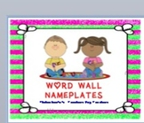 WORD WALL NAMEPLATES
