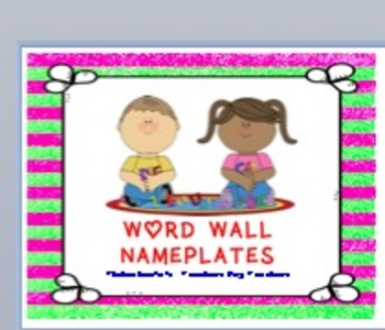 WORD WALL NAMEPLATES
